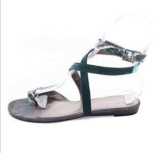 Calvin Klein 'Charis' Snakeskin & Suede Sandal